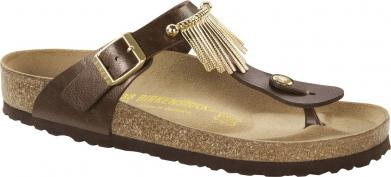 Birkenstock Gizeh BF Fringe Graceful Toffee brown