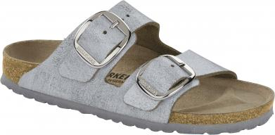 Birkenstock Arizona Big Buckle VL Washed Metallic Blue Silver silver