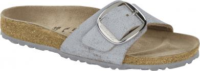 Birkenstock Madrid Big Buckle VL Washed Metallic Blue Silver silver