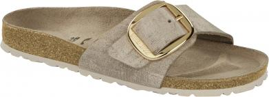 Birkenstock Madrid Big Buckle VL Washed Metallic Rose Gold gold