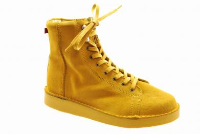 Grünbein Louis suede uni yellow