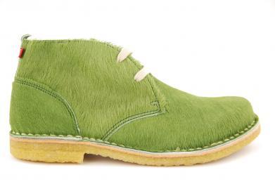 Grünbein Elsa Echtfell Naturschuh grün